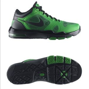 Nike green basketball shoes / trainers size 13